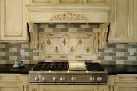 kitchen stunning french kitchen style also artistic wooden wall cabinets and backsplash subway tiles beautify