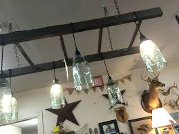 ball jar lamp ladder light fixture with ball jars for the home kitchen jar chandelier how