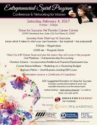 past events dress for success sw florida entrepreneurial spirit program e p conference networking for women saturday