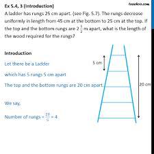 Step Ladder Size Chart Ex 5 4 3 Optional A Ladder Has Rungs 25 Cm Apart Rungs