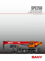 Sany Spc250 25ton General Chasis Truck Mounted Crane Sany