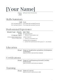 Cv Template For First Job
