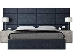 king size headboard. Fine Headboard VANT Upholstered Headboards  Accent Wall Panels Packs Of 4 Textured  Cotton Weave Midnight In King Size Headboard L