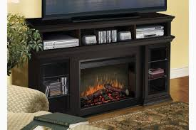 tv stand with fireplace ideal furniture black media