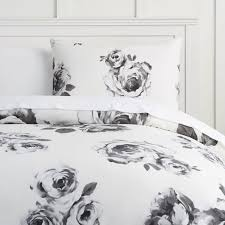 black and white bed covers. Brilliant White The Emily U0026 Meritt Bed Of Roses Duvet Cover  Sham Black White To And Covers B