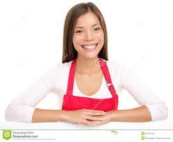 apron w s assistance clerk stock images image  apron w s assistance clerk