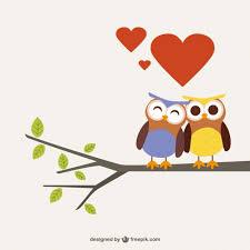 Owls In Love Cartoon Vector Free Download Unique In Love Cartoon