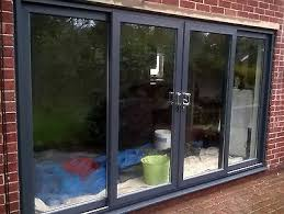 grey upvc 4 pane sliding patio door