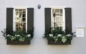 black exterior window shutters. Simple Black Black Window Boxes And Shutters The James English House 49 South  Battery Charleston Throughout Exterior Window Shutters H