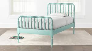 Kids bed Diy Crate And Barrel Jenny Lind Teal Twin Bed Reviews Crate And Barrel