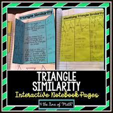 triangle similarity interactive notebook page triangle similarity interactive notebook page