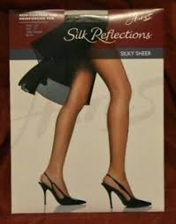 Hanes Thigh Highs Size Chart Details About Hanes Silk Reflections Pantyhose Non Control Reinf Toe Town Taupe Size Ef E16