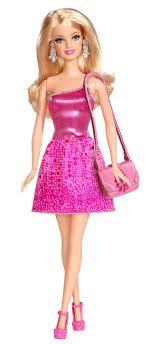 Childrens Barbie Glitz & Glam Fashion Modern Style Doll Ball Gown Disco  Ages 3 Pink a