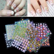 Mix Styles New 3D Mix Color Floral Design Nail Art Stickers Decals ...