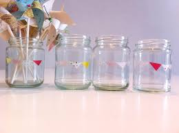 Decorating Jelly Jars I Do DIY jam jars with bunting and hearts washi tape 17