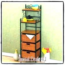 bakers rack wood large with drawers wooden racks storage plans