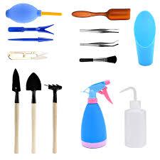 vgoodall 14 pieces mini garden tools set succulent transplanting hand tool set include shovel rake spade for indoor plant care gardening