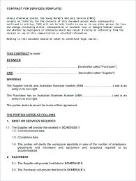 Simple Service Contract Service Contract Template And Important Terms To Write