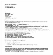 Pdf Resume Beauteous MCA Resume Template For Fresher PDF Download Min Resume Template Pdf
