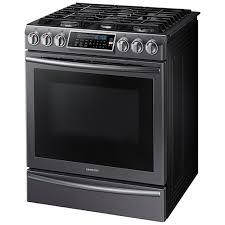 samsung range. samsung appliances 5.8 cu. ft. self clean slide-in gas range with true convection