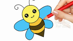 Drawingcolor How To Draw A Bee Drawing Coloring Pages For Kids Color For