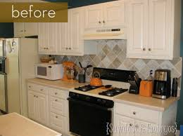 ... ideas  painted kitchen backsplash photos before and after painted tile  backsplash curbly ...