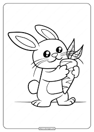 Baby printable coloring pagesfree baby coloring pages which i think is very good, simple coloring sheet which will make your kids enjoy to colouring pictures. Printable Baby Rabbit Coloring Page Eat Carrot
