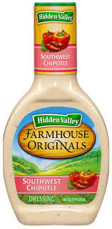 amazon hidden valley farmhouse originals southwest chipotle salad dressing topping gluten free 16 ounce bottle pack of 6 ranch dressings