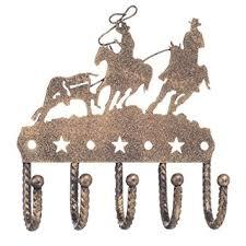 gift corral key rack team roper black bronze