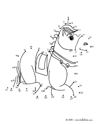 dot to dot animals. Unique Animals Animal Dot To Coloring Pages  LAYING HORSE Game Intended Dot To Animals O