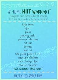 thirty minute at home hiit workout