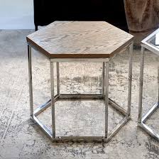 bol com hexagon parc end table wood