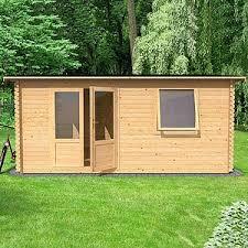 home office in the garden. Unique Home 58m X 5m Home Office Executive Log Cabin  No Veranda Inside In The Garden