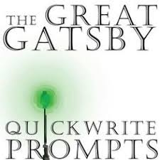 i made a set of writing prompts about the great gatsby these the great gatsby journal quickwrite writing prompts powerpoint