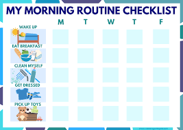 Free Morning Routine Chart Pictures Kids Morning Routine Checklist Image Mending With Gold