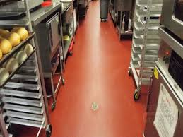 Commercial Kitchen Flooring Epoxy Flooring On Tile Nonslip Commercial Kitchen In Also
