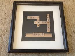 Scrabble Names Wall Art Scrabble Shadow Box Mothers Day Gift For Nana With