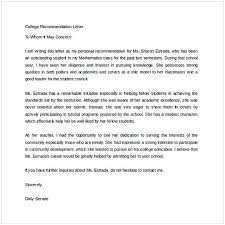 College Recommendation Letter Template Cycling Studio