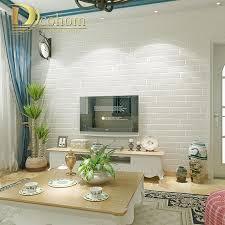Moderne Bruin Grijs Wit Zwart Baksteen Behang Voor Muren 3 D Voor