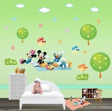 baby room wall decal disney wall art mickey and minnie have a dinner party