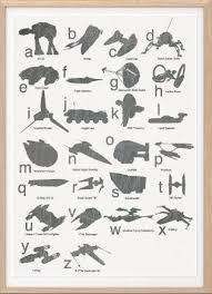 Star Wars Spaceship Alphabet By Sealdesignstudio