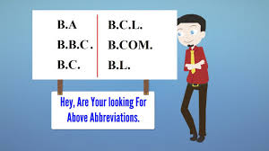 Ba Stands For BA BBC BC BCL BCOM BL Full Form Full Meaning YouTube 10