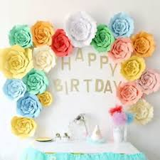 Diy Giant Paper Rose Flower Details About 2pcs Giant Paper Rose Flower 20cm Diy Backdrop Wall Wedding Party Birthday Decor