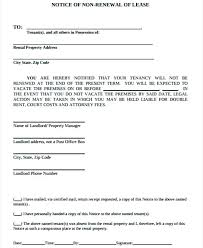 Sample Auto Renewal Lease Agreement Letter To Landlord Not