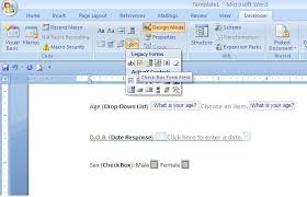 How To Add A Drop Down Box In Word Creating Editable Forms In Microsoft Word Va Pro Magazine