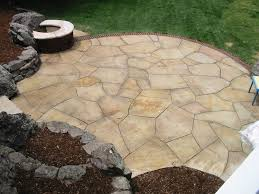 edging for flagstone patio random cut buff flagstone patio with brick edge and natural on this