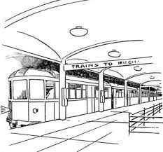 364 x 470 file type: Train And Train Station Coloring Page Printable Coloring Pages Trains Jpg
