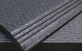 heavy duty interlocking rubber flooring tiles beveled edge for vulcanized rubber flooring