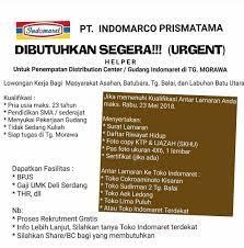 Semoga informasi ini bisa bermanfaat untuk anda yang ingin bekerja di kota tebing tinggi indonesia. Lowongan Kerja Medan Terbaru Helper Di Indomaret Pt Indomarco Prismatama Medan
