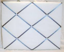 Memo Board With Ribbon Whitecream and greyblue ribbon Memory Board French Memo Board 3